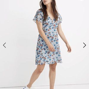 Madewell Open Back Mini Ditsy Floral Summer Dress Plus Size Size 24